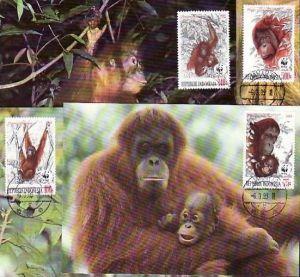 WWF.  MC -Indonesien  4er Serie (z5740 )