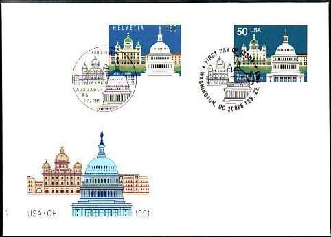 Schweiz FDC mit USA Marke   (z5801 ) siehe scan