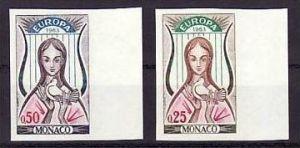 Cept Monaco 742/43 U geschnitten ** signiert !  ( bb7815  )siehe scan