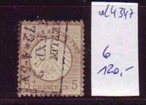 D-Reich  Nr. 6   o  (d4347 )siehe scan