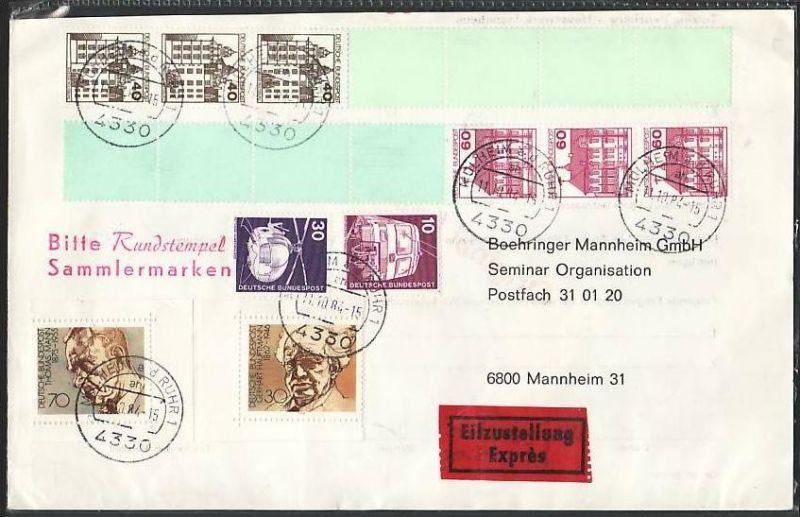 BRD Rollenende Briefvorderseite  ( z7421  )siehe scan