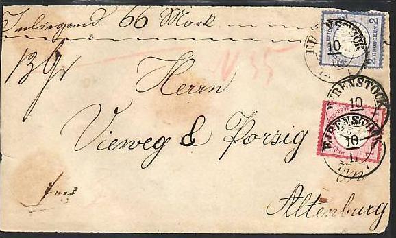 D-Reich Briefvorderseite Eibenstock    Bedarf ( z7525  )siehe scan