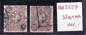 D-Reich Nr. 35a+aa  o  (aa2127 ) siehe Bild