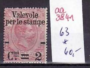 Italien Nr. 63 *    (aa3841 ) siehe scan