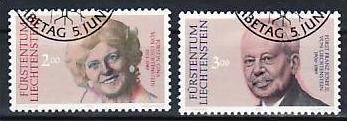 Liechtenstein Nr.988-9  o/fine used (aa4165 ) weit unter ABO Preis