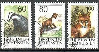 Liechtenstein Nr.1066-8  o/fine used (aa4214 ) weit unter ABO Preis