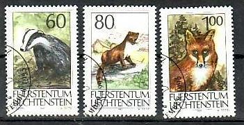 Liechtenstein Nr.1066-8  o/fine used (aa4216 ) weit unter ABO Preis