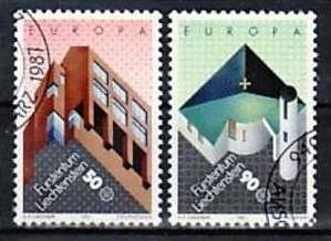 Liechtenstein Nr.916-7  o/fine used (aa4055 ) weit unter ABO Preis