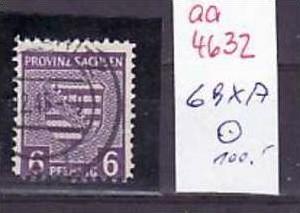 SBZ Nr. 69xA  o  ( aa4632 )GUT & GÜNSTIG !! siehe scan