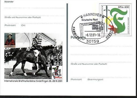 BRD Ganzsache 2001  ( m3258 ) siehe scan 0