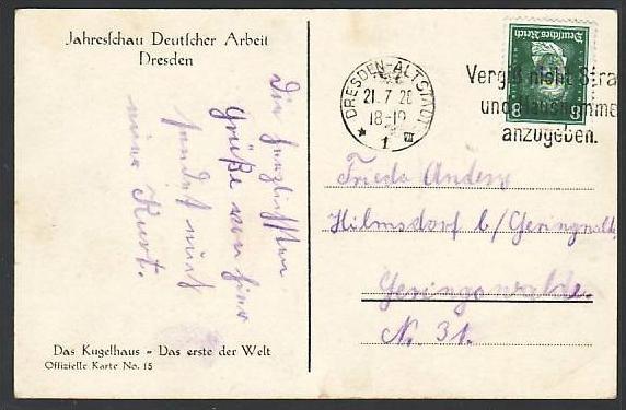 PK -Dresden Jahresschau...  ( m3456) siehe scan 1