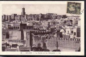 Tunesien  alte Karte  ( da698 ) siehe scan