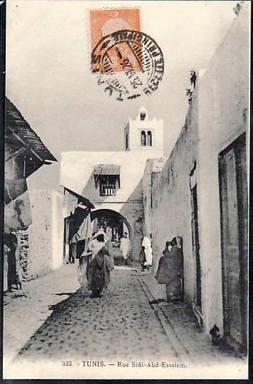 Tunesien  alte Karte  ( da691 ) siehe scan