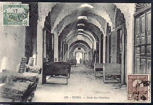 Tunesien  alte Karte  ( da688 ) siehe scan