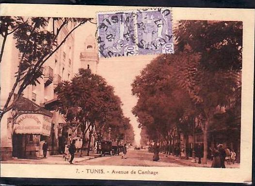 Tunesien  alte Karte  ( da687 ) siehe scan