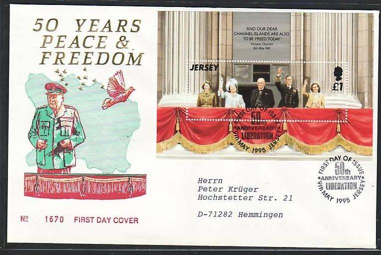 Jersey FDC  1995 (m3679 ) siehe scan