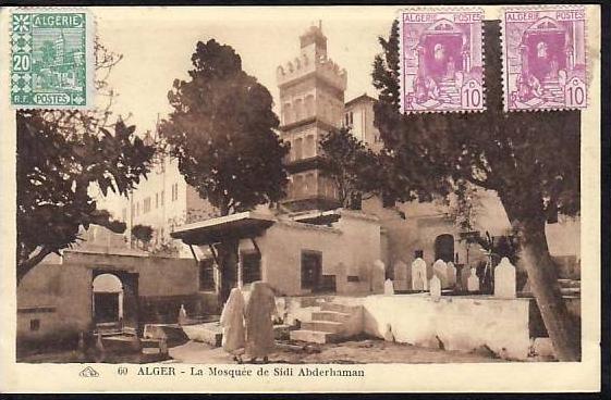 Algerien  alte Karte  (da 845) siehe scan
