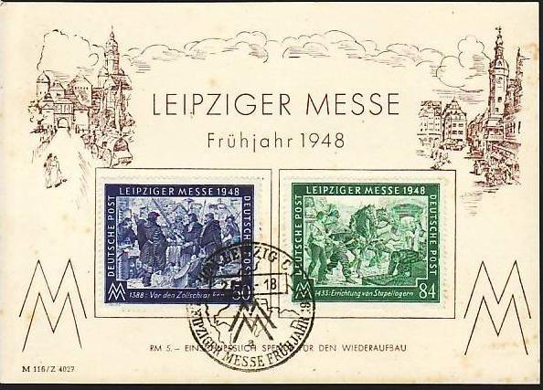 SBZ  Leipziger Messe FDC/Beleg- 1948 (m 3991 )siehe scan