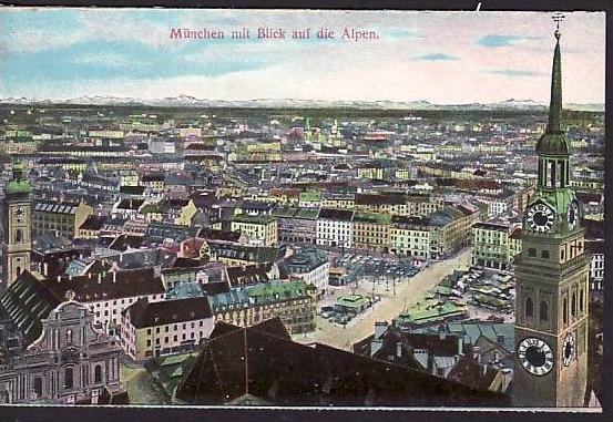 alte Karte München -ungebraucht  (da869  ) siehe scan