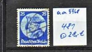 D.-Reich Nr. 481       o/used  (aa 5968 ) siehe scan