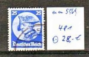 D.-Reich Nr. 481       o/used  (aa 5969 ) siehe scan