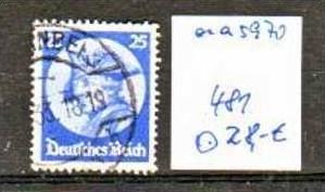 D.-Reich Nr. 481       o/used  (aa 5970 ) siehe scan