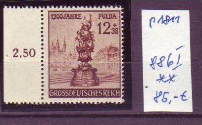 D-Reich Plattenfehler Nr. 886   I  **  (p1811 ) siehe scan