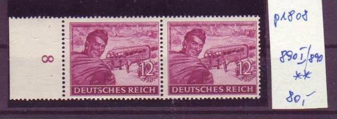 D-Reich Nr. 890 I/ 890 **    (p1808 ) siehe scan