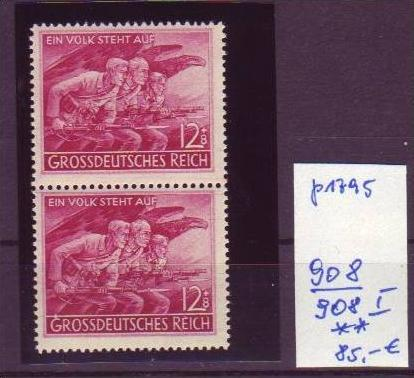 D-Reich Nr. 908/908 I    **    (p1795 ) siehe scan