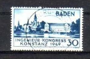 Franz.Zone BADEN Nr. 46  o-used (aa6163 ) siehe scan