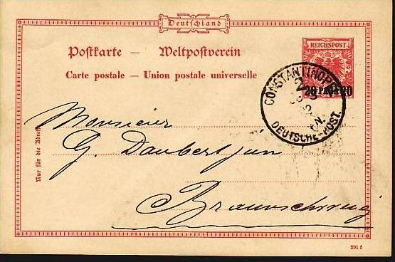 D-Reich DP.in der Türkei  (m4229 ) siehe scan