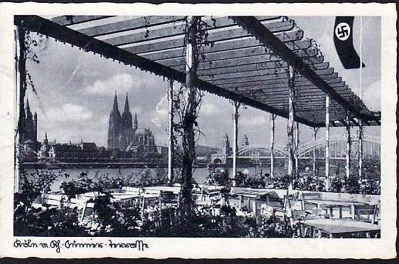 Alte Karte Köln  gebraucht ( da945 ) siehe scan
