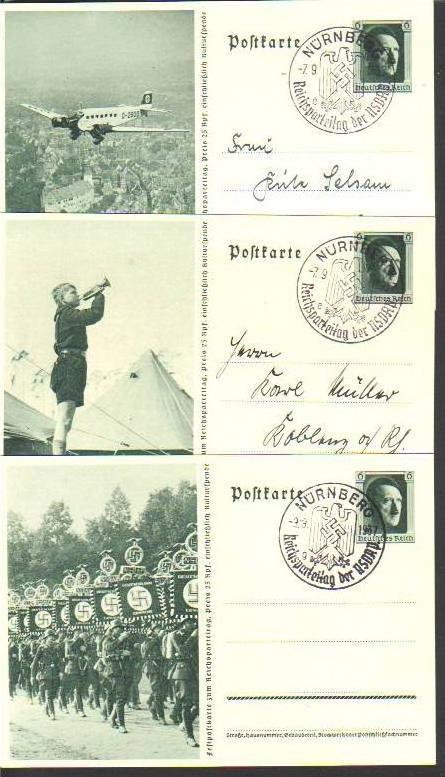 Karte/Ganzsache-serie 3.Reich-Propaganda  (da1054 ) siehe scan