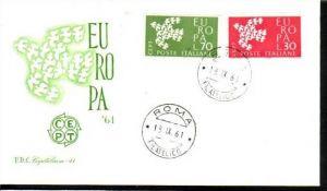Europa FDC 1961 Italien (m4652 ) siehe scan