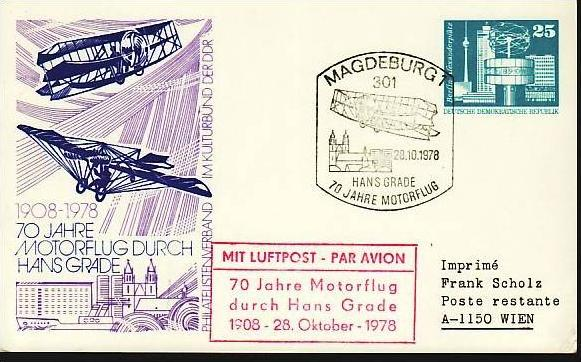DDR  Flug Beleg   (m5918 ) siehe scan