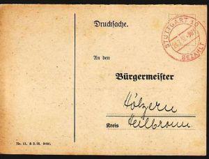 Gebühr bezahlt Stuttgart    ( da 1312 ) siehe scan