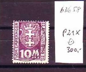 Danzig  Nr. P21 x    o   ( b3658    ) siehe Bild