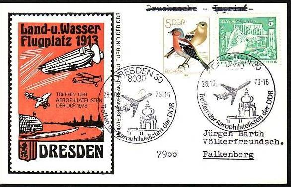 DDR  Sammler-Flug Beleg  ( m5991   ) siehe Bild
