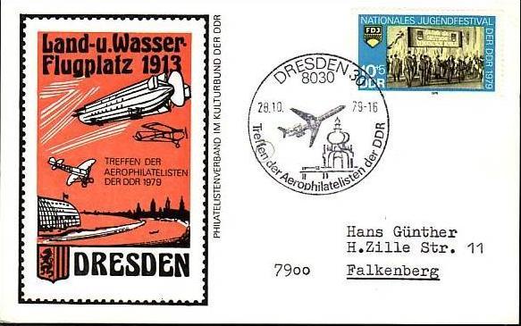 DDR  Sammler-Flug Beleg  ( m5992   ) siehe Bild