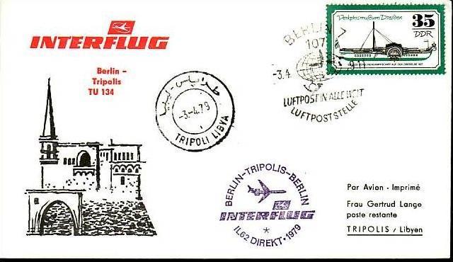 DDR  Sammler-Flug Beleg  ( m6027   ) siehe Bild