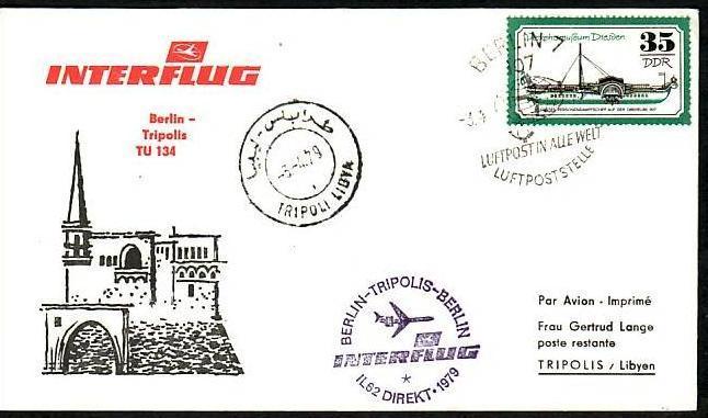 DDR  Sammler-Flug Beleg  ( m6028   ) siehe Bild