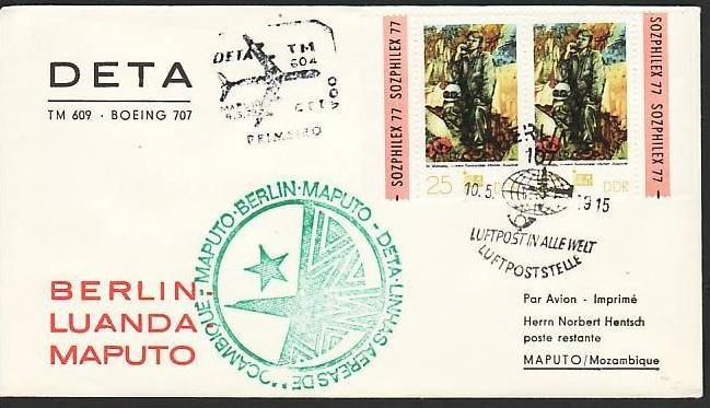 DDR  Sammler-Flug Beleg  ( m6031   ) siehe Bild
