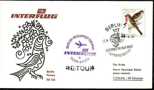 DDR  Sammler-Flug Beleg  ( m6032   ) siehe Bild