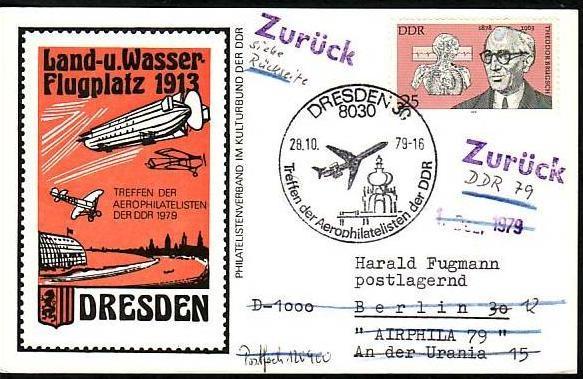 DDR  -Beleg - Flugpost   ( m 6038  ) siehe scan