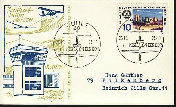 DDR  -Beleg - Flugpost   ( m 6058  ) siehe scan