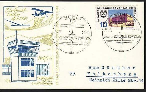 DDR  -Beleg - Flugpost   ( m 6059  ) siehe scan