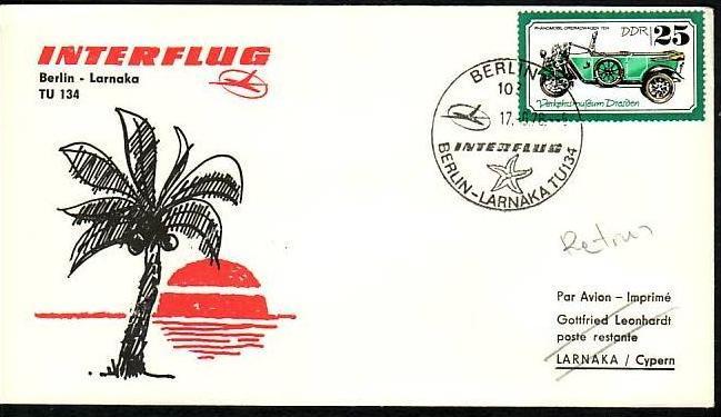 DDR  -Beleg - Flugpost   ( m 6060  ) siehe scan