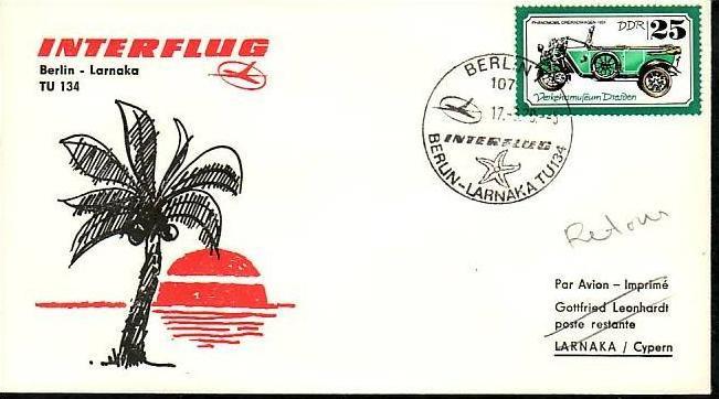 DDR  -Beleg - Flugpost   ( m 6061  ) siehe scan