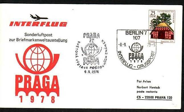 DDR  -Beleg - Flugpost   ( m 6062  ) siehe scan