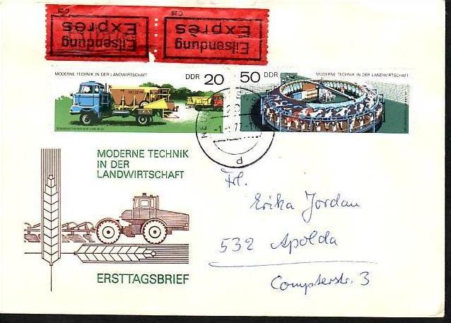 DDR -Sammler-  Beleg  ( m 5986 ) siehe scan